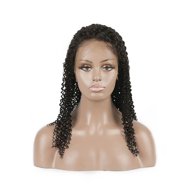 Lace Front Ladies Wigs Human Hair With African Curl Afro Curl