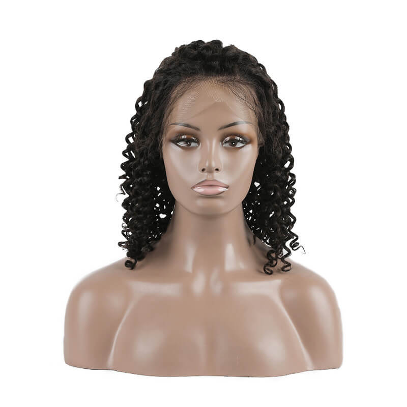 613 Full Lace Natural Looking Wigs Human Hair 360 Lace Size BOB Deep Curl