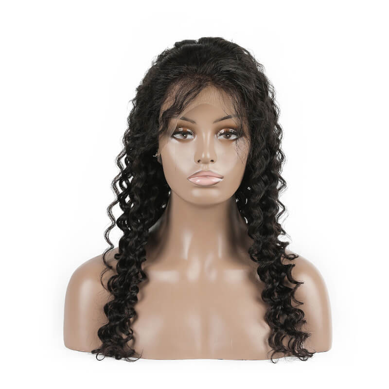 Virgin Wholesale Human Hair With 4x4 Lace Front Wig Deep Wave