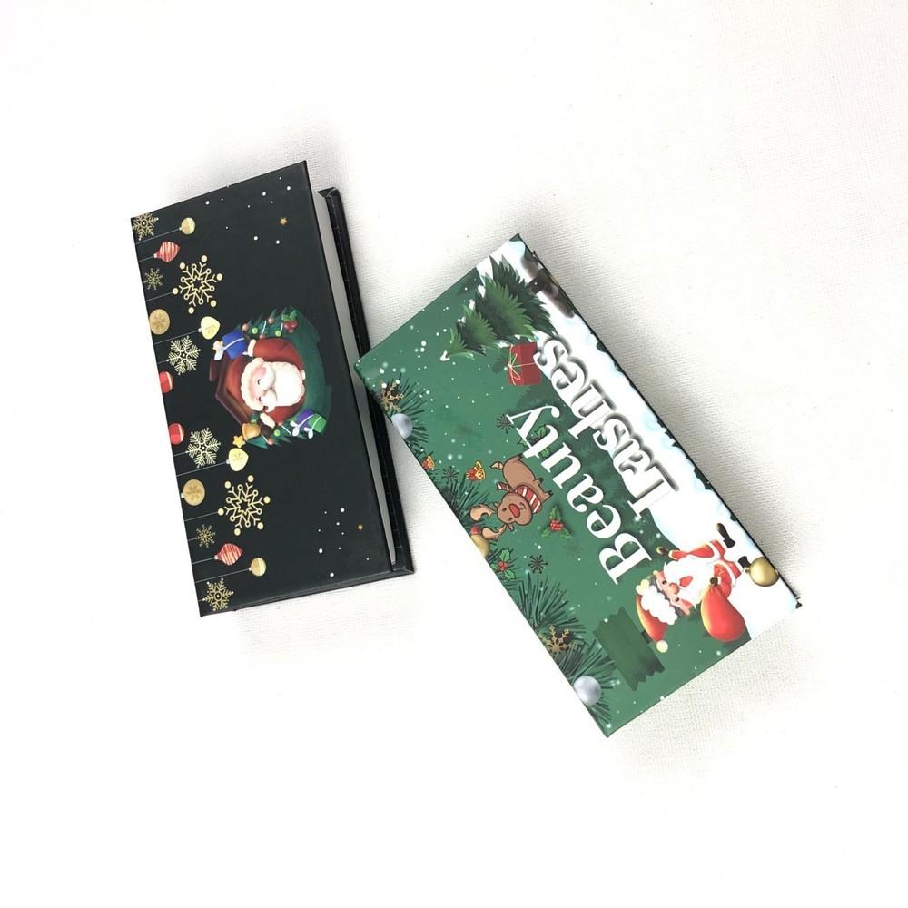 Custom 25mm 3d Minklash Eyelash Packaging Box For Christmas