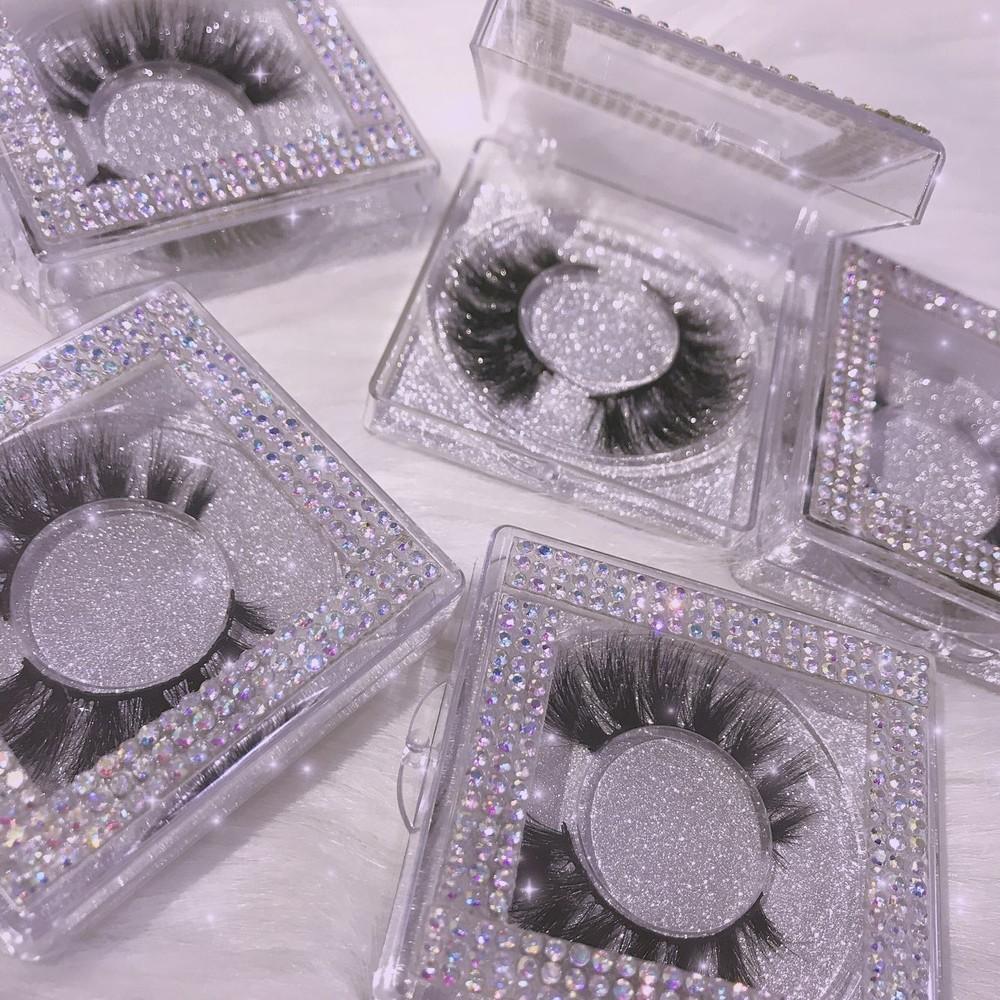 Luxury Eyelash , 3D mink lash, rhinestone box, germ lash box,